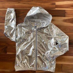 Adidas Originals Womens Silver ZIp Up JACKET Small
